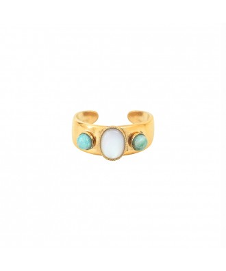 BAGUE SUZANNE TURQUOISE - NACRE